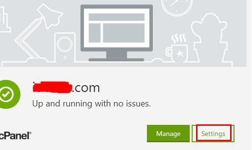 """然后点击需要修改的主机后面的""""Settings""""按钮进入。"""