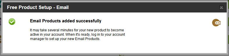 然后我们可以看到成功开通GoDaddy邮箱的提示,