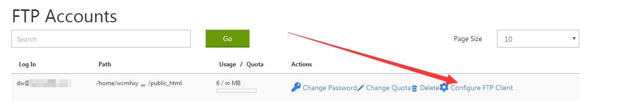 配置FTP客户端